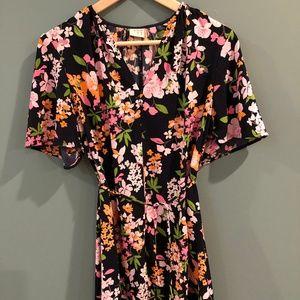 gorgeous floral dress with matching tassel belt